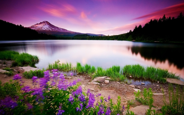 mountain-lake-and-sunset-1280x800-wallpaper-5576