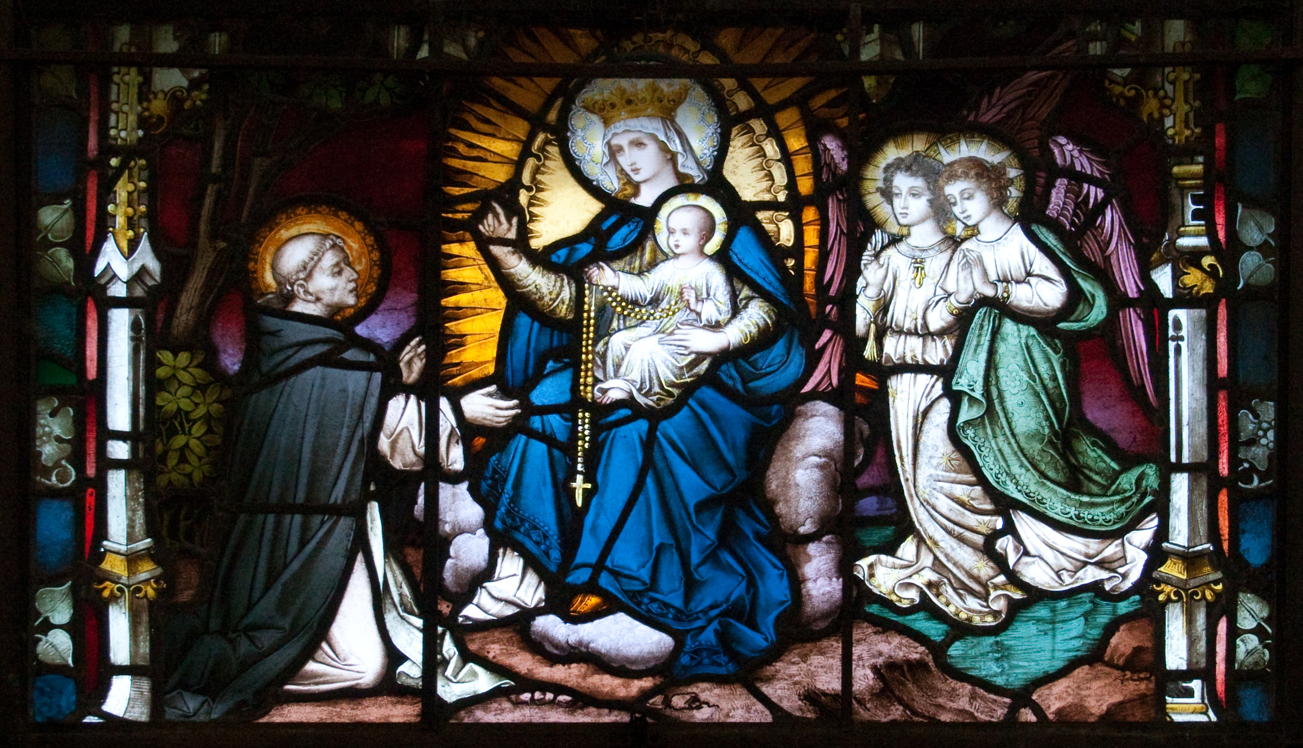 Carlow_Cathedral_St_Dominic_Receives_the_Rosary_from_the_Virgin_Mary_2009_09_03